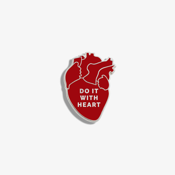 FIGS | V Coterie Do It With Heart Enamel Pin