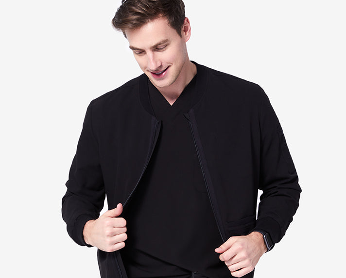 Featuring our proprietary FIONx fabric, seven pockets and a bungee at the hem, the Zapote is the best jacket to put over your scrubs, workout clothes, etc.