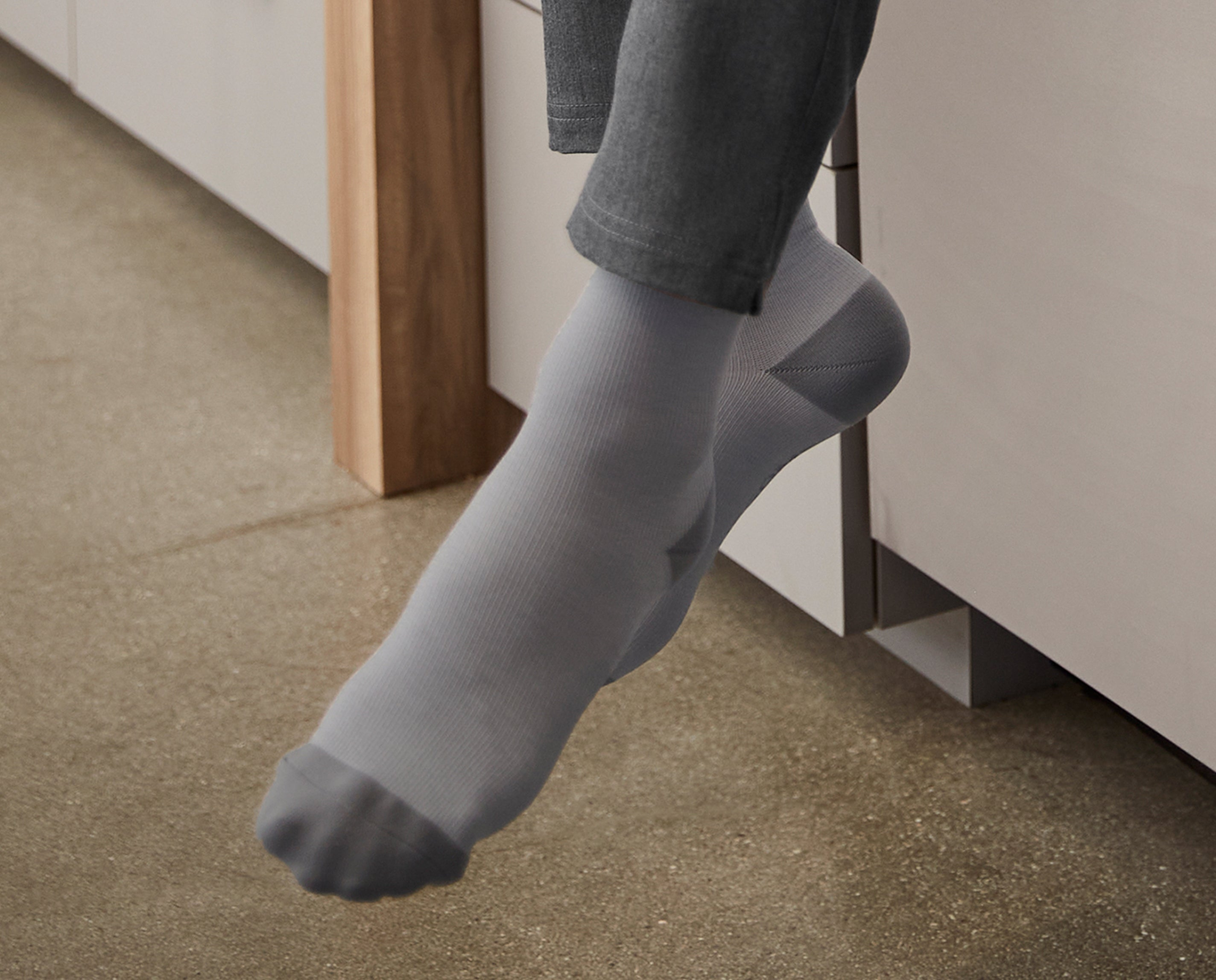 Night mode! Our new Night Shift Compression Socks were designed to brighten your night shift, literally. Glow-in-the-dark moons and stars illuminate your socks and 360° seamless compression helps relieve your achy legs.