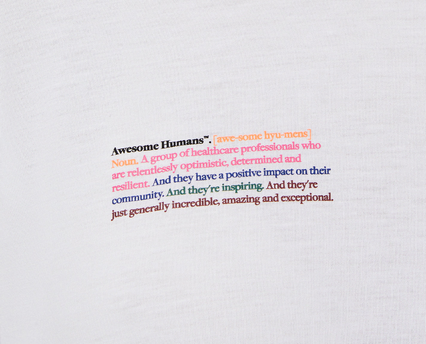 """Awesome Humans. The special """"Awesome Humans"""" Underscrub has a relaxed fit and of course, a graphic on the chest letting everyone know that you are proud to be an Awesome Human."""