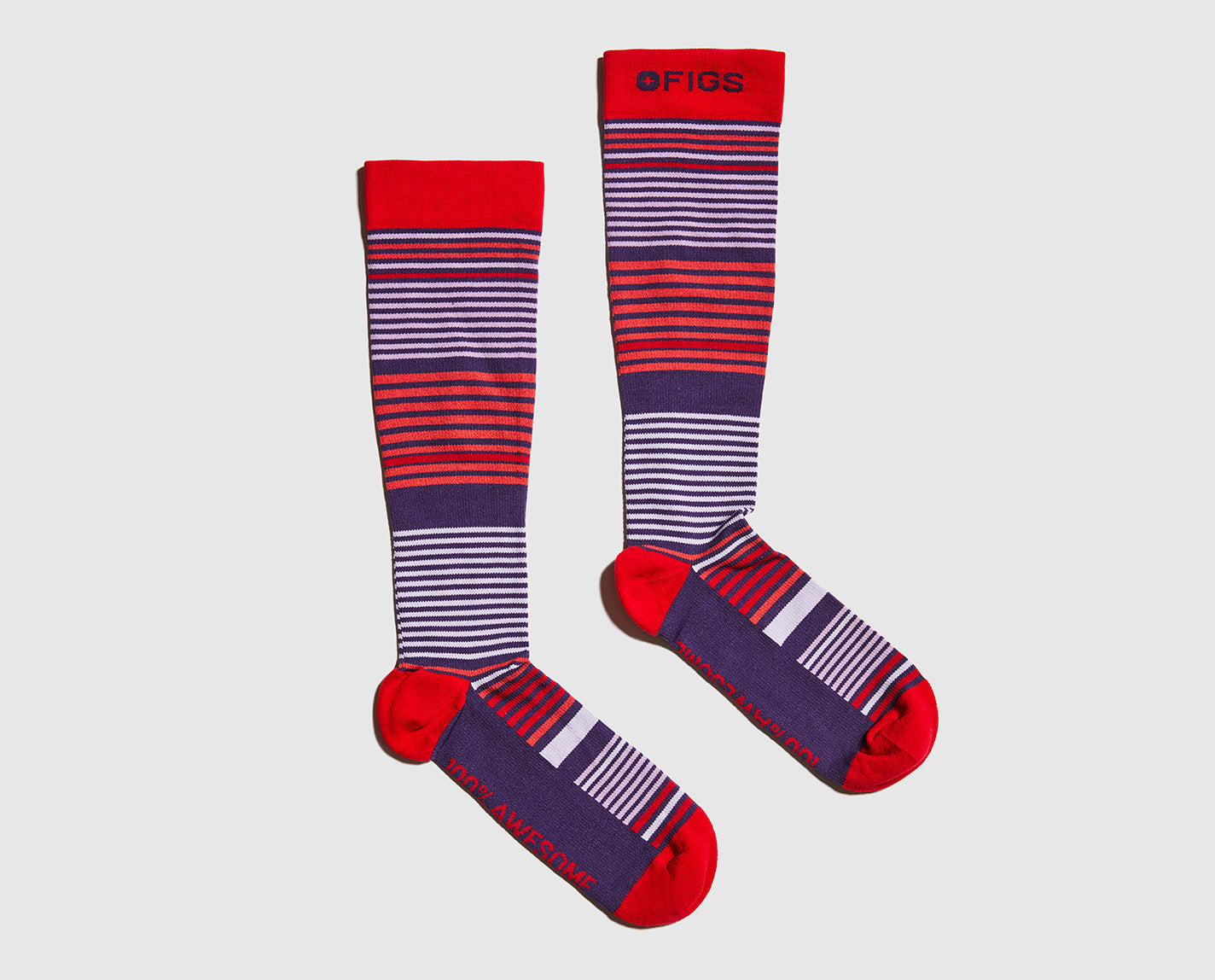 Why have one stripe when you can have so much more? Our 100% Awesome Compression Socks are ridiculously soft and help relieve tired and achy legs.