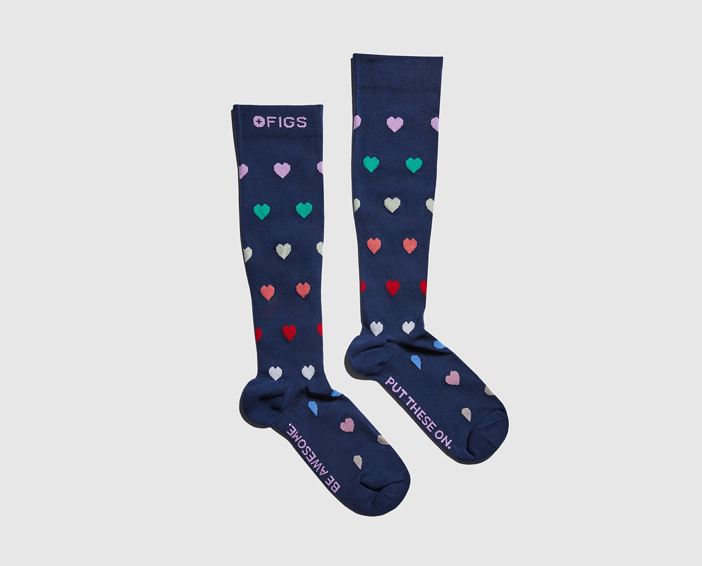 Our Pride 100% Awesome Compression Socks are ridiculously soft and help relieve tired and achy legs.