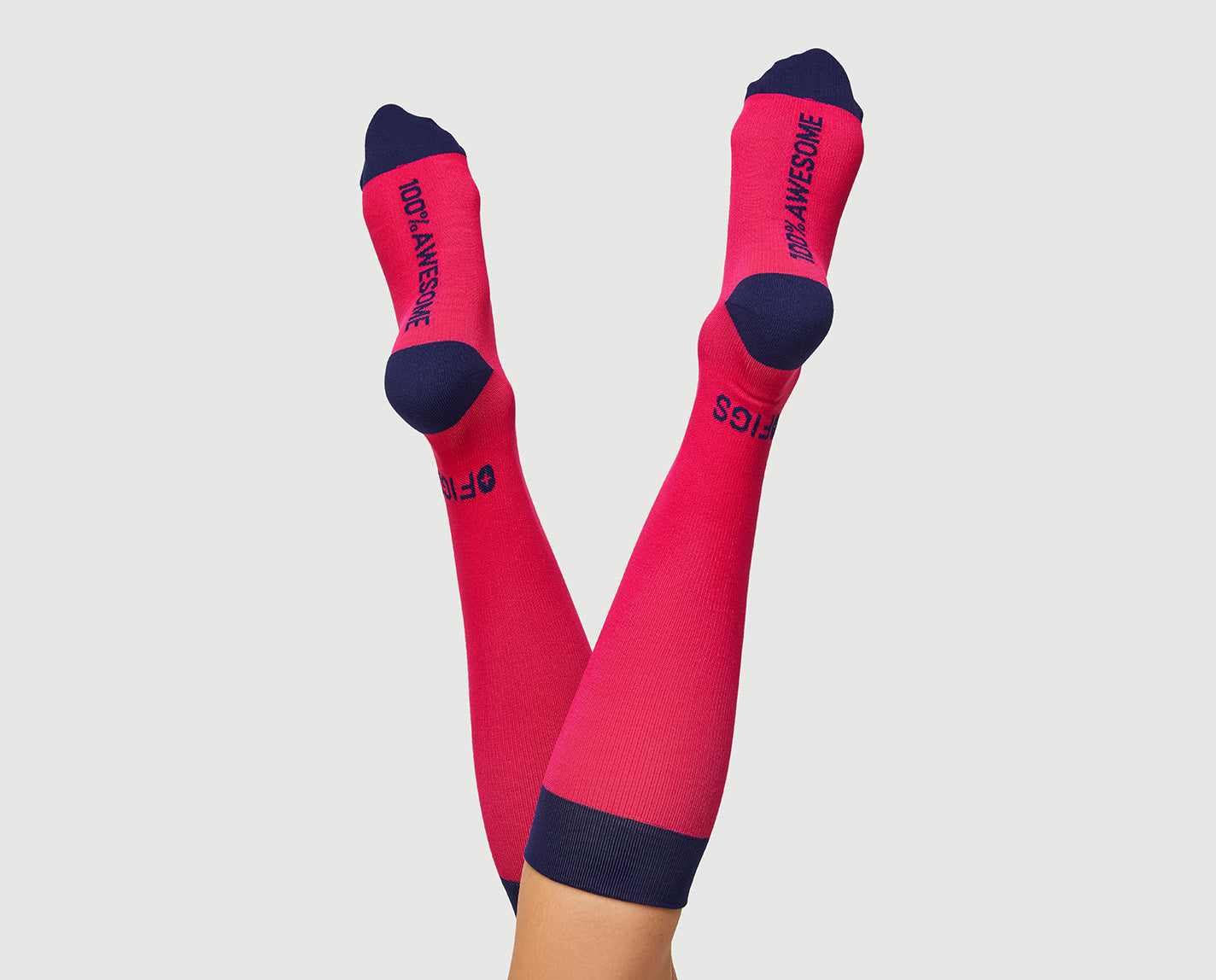 For wherever your legs and feet take you. 100% Awesome Compression Socks that are ridiculously soft and help relieve tired and achy legs.