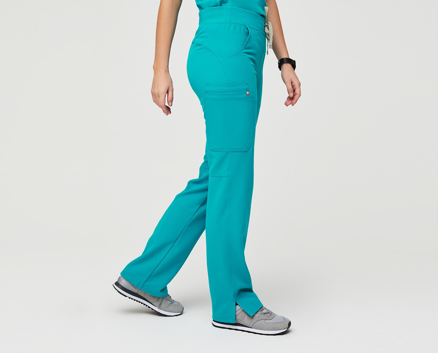 Is there any way for the night shift to feel as good as a yoga session? Maybe not, but the Kade gets close. Inspired by yoga apparel, it has a comfy waistband, flattering back yoke (that makes your butt look GOOD) and four pockets. And, yep, it's made with our proprietary FIONx fabric.