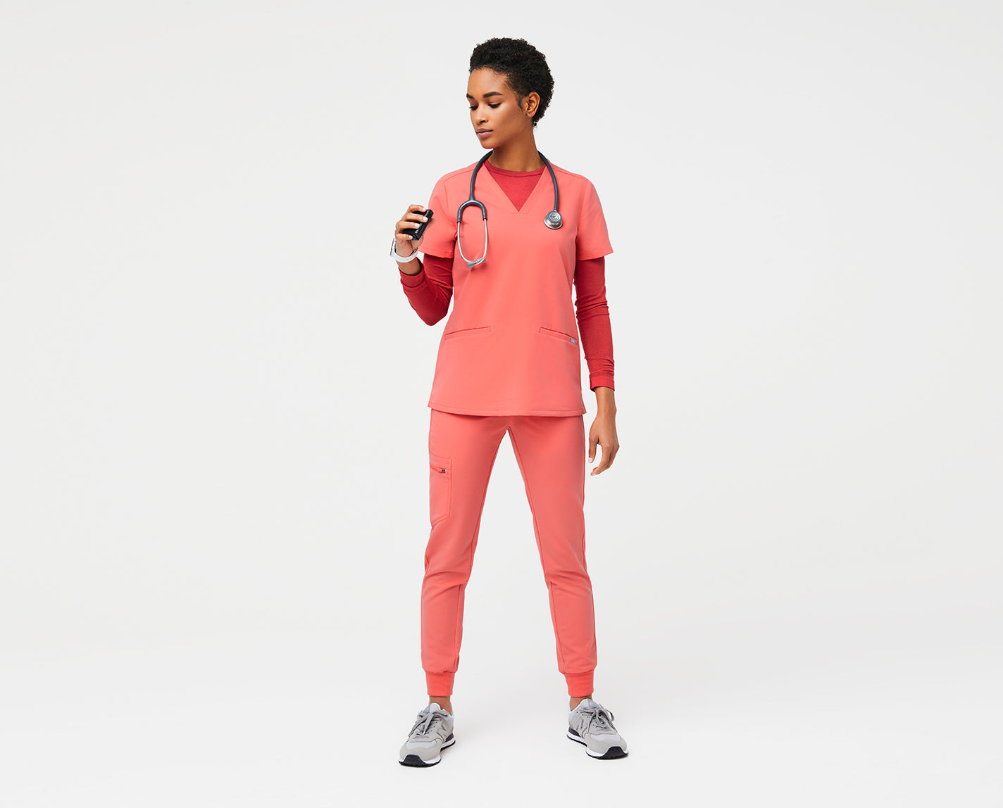 This underscrub stays cool under pressure — just like you. With a slim fit, our proprietary FIONdry moisture-wicking technology and perforated ventilation details, Salta takes your shifts to the next level.