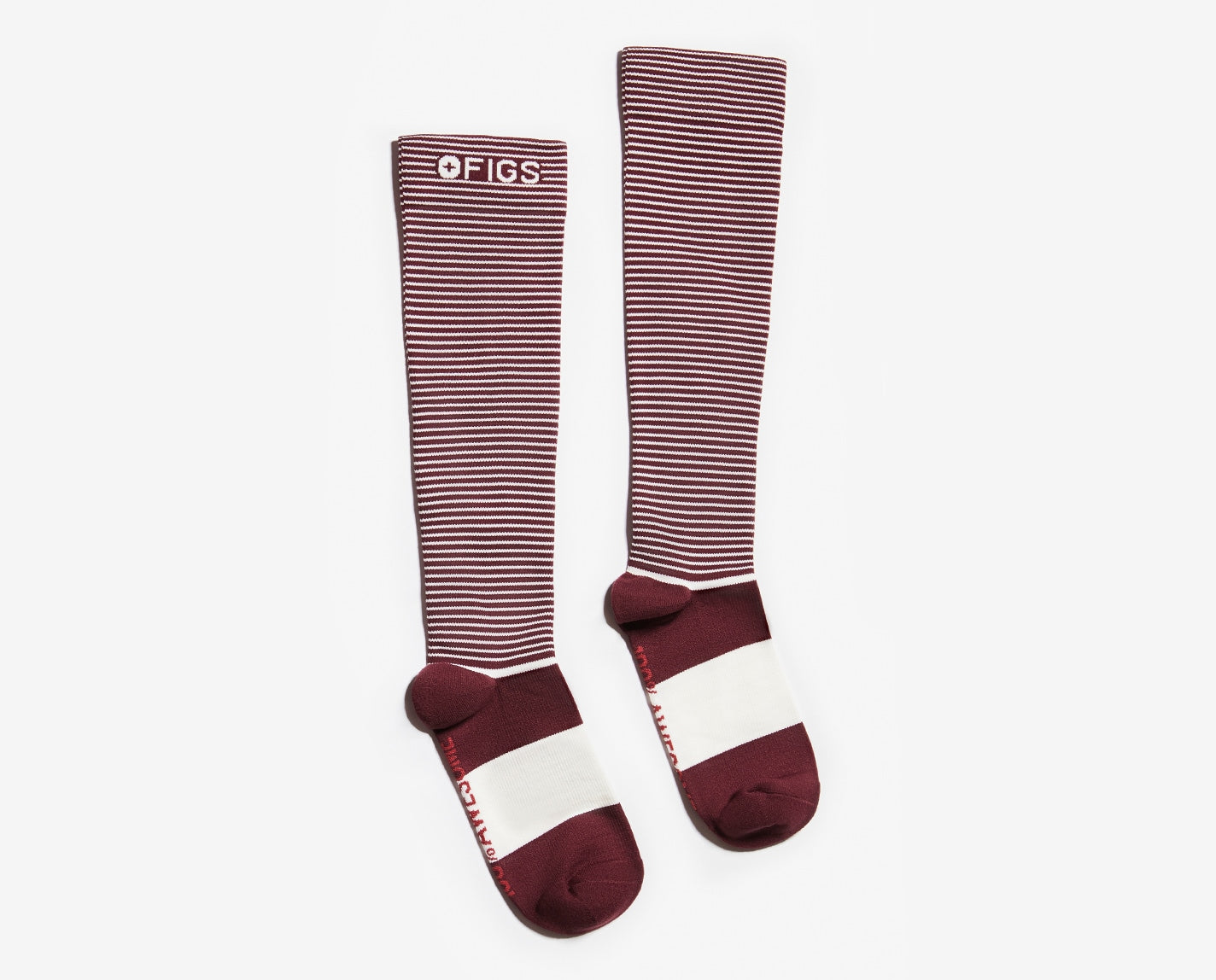 Show your true stripes! Our Double Stripe 100% Awesome Compression Socks conveniently match a whole bunch of your FIGS, plus they help to relieve tired and achy legs. They're also breathable, ridiculously soft and feature our proprietary FIONdry moisture-wicking technology.