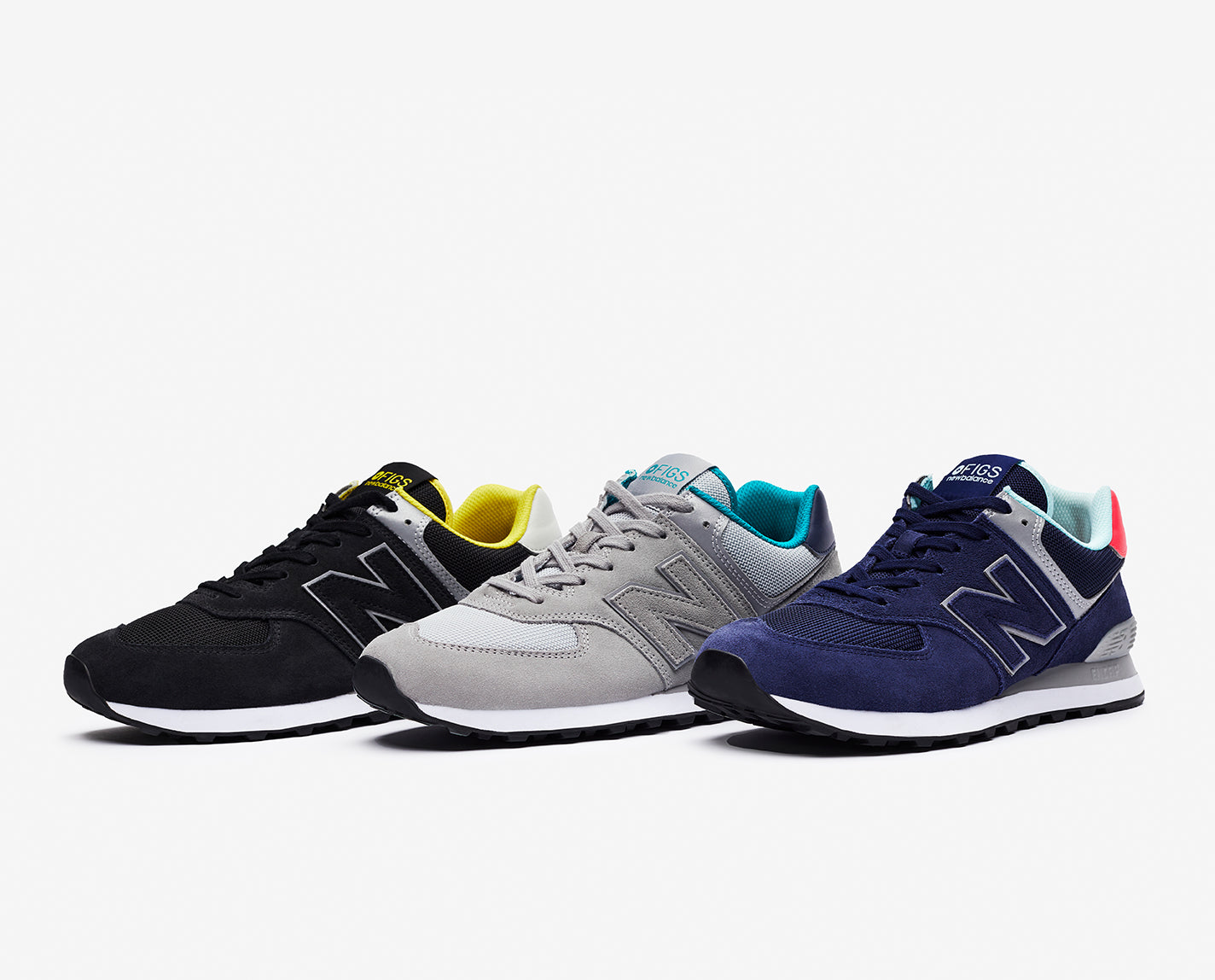 A tried-and-true classic constructed for all-day performance. The FIGS   New Balance 574 Capsule Collection features an iconic silhouette that's always in style, updated with premium materials like powerful ENCAP® midsole technology and super soft and supportive foam cushioning. It's your new go-12+-hours-in-complete-comfort shoe.