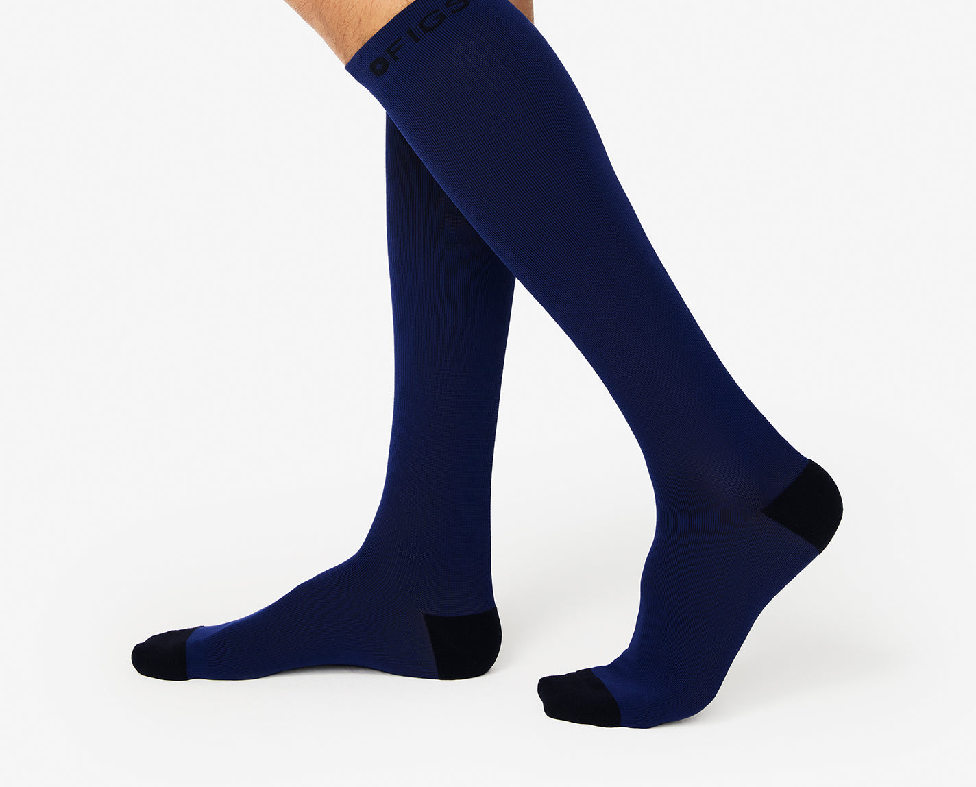 Just a real true blue. Our Navy 100% Awesome Compression Socks are ready to support you 24/7 — they help relieve tired and achy legs. They're also breathable, ridiculously soft and conveniently match a whole bunch of your FIGS!