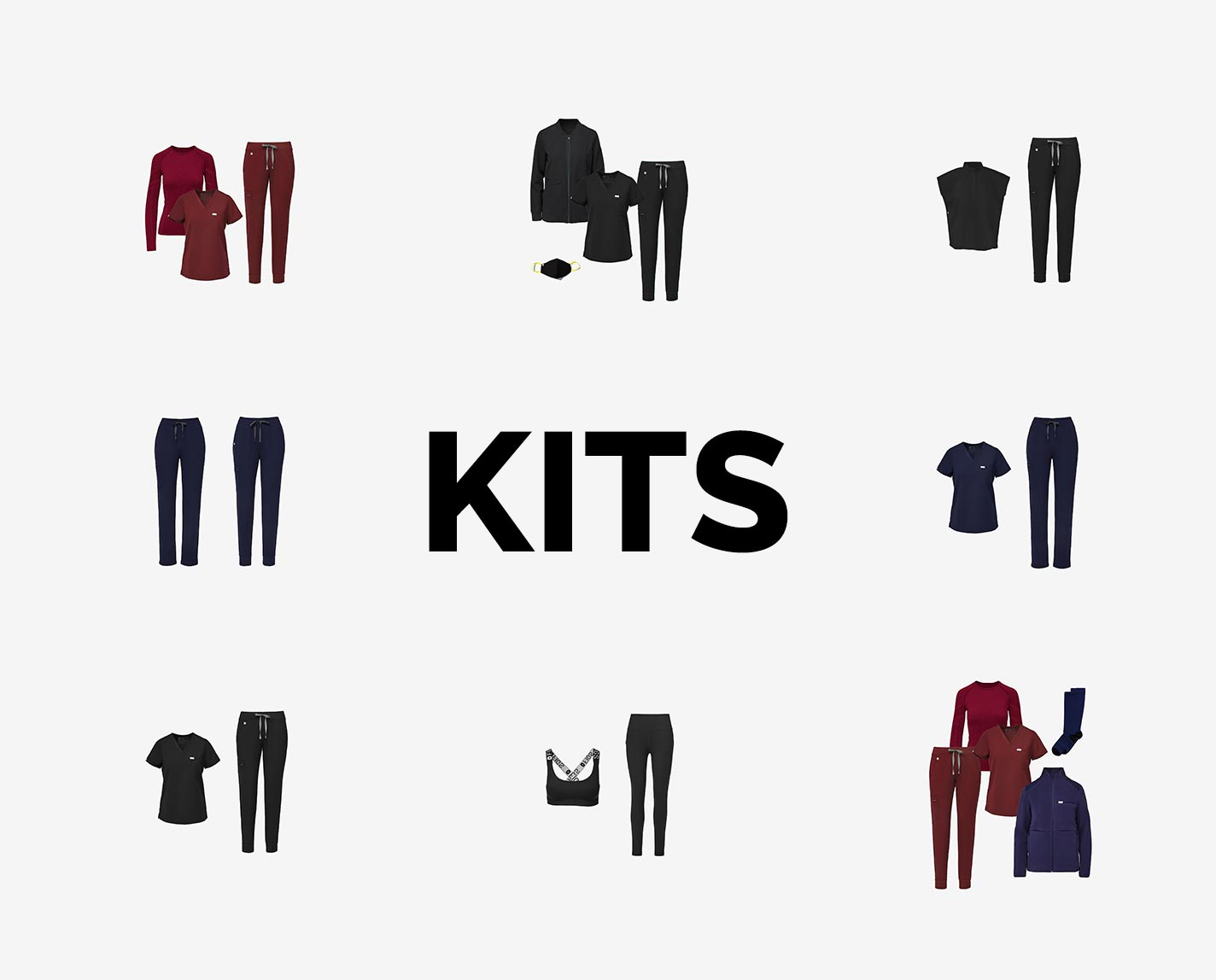 Kits bring you all the good stuff about 100% Awesome Scrubs — engineered with design, comfort and function — in pre-planned outfits so you can focus on the important things, on-shift and off.