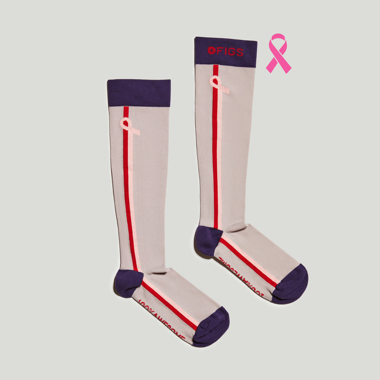 Gull Grey BCA Peace Out Cancer Stripe
