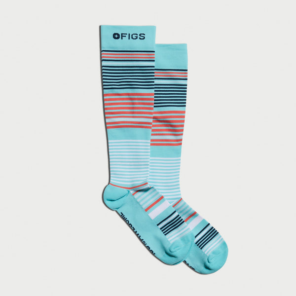 Multi Stripe Compression Socks