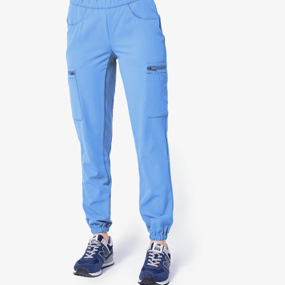 1a1dbcdd206 women's Ceil Blue Lima - 12-Pocket Jogger Scrub Pants