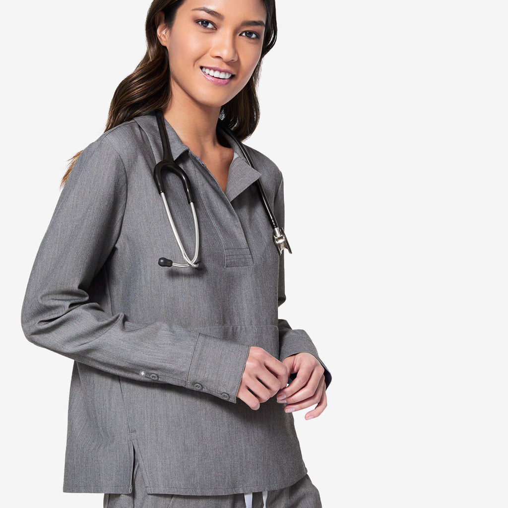 Women's Graphite Watamu   Longsleeve Scrub Top by Figs