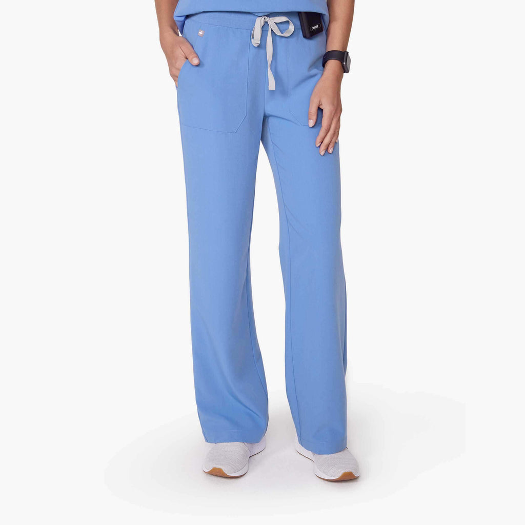 Women's Ceil Blue Teresina   Wide Leg Scrub Pants by Figs