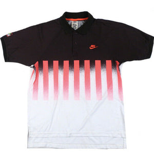 823c1616 Vintage Andre Agassi Nike Challenge Court Hot Lava Polo Shirt Air Tech  Tennis