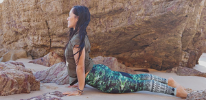 Flow Tribe of Green Full Length Legging