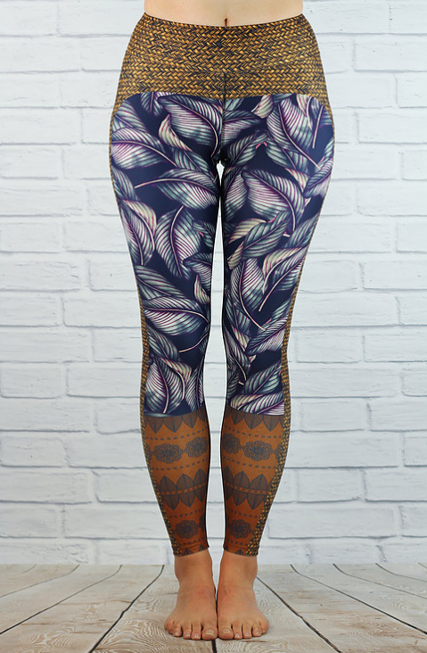 Flow Bali Ha'i Leaf Full Length Legging