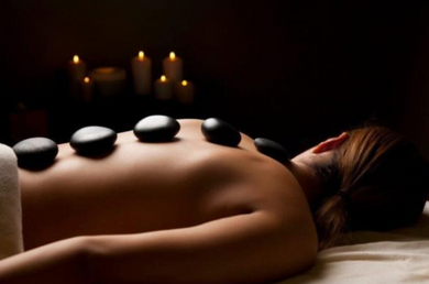 Float Hot Stone Massage 1 hr, 15 mins