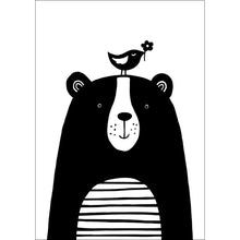Load image into Gallery viewer, Happy Bear and Bird Print