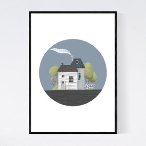 Happy Home with Swing Print