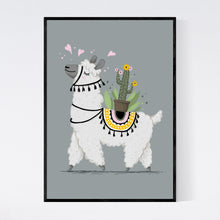 Load image into Gallery viewer, Lovable Lama with a Cactus Print