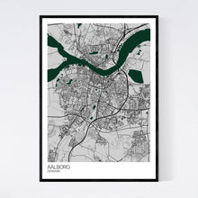 Load image into Gallery viewer, Aalborg City Map Print