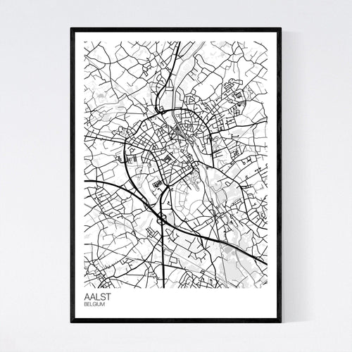Map of Aalst, Belgium