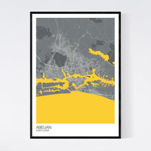 Load image into Gallery viewer, Abidjan City Map Print