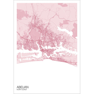 Map of Abidjan, Ivory Coast