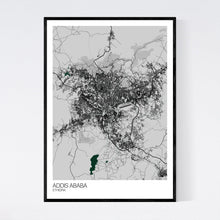 Load image into Gallery viewer, Addis Ababa City Map Print