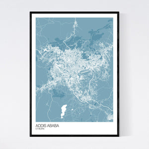 Addis Ababa City Map Print