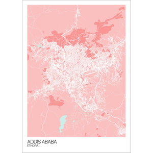 Map of Addis Ababa, Ethiopia
