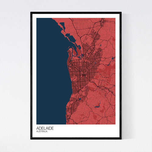 Adelaide City Map Print