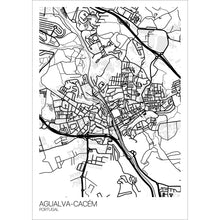 Load image into Gallery viewer, Map of Agualva-Cacém, Portugal