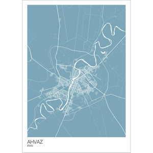 Map of Ahvaz, Iran