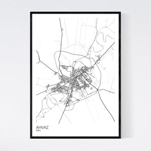 Ahvaz City Map Print