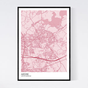 Airdrie City Map Print