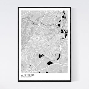 Aldershot City Map Print