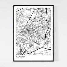 Load image into Gallery viewer, Aldershot City Map Print
