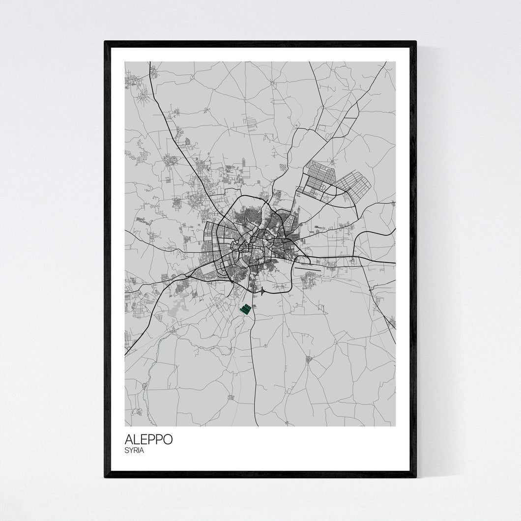 Aleppo City Map Print