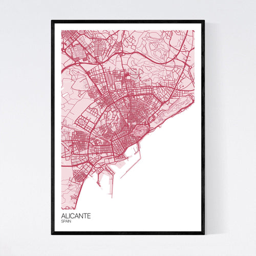 Map of Alicante, Spain