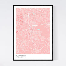 Load image into Gallery viewer, Altrincham City Map Print