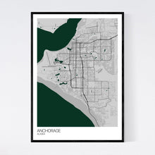 Load image into Gallery viewer, Anchorage City Map Print