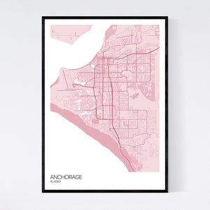 Anchorage City Map Print