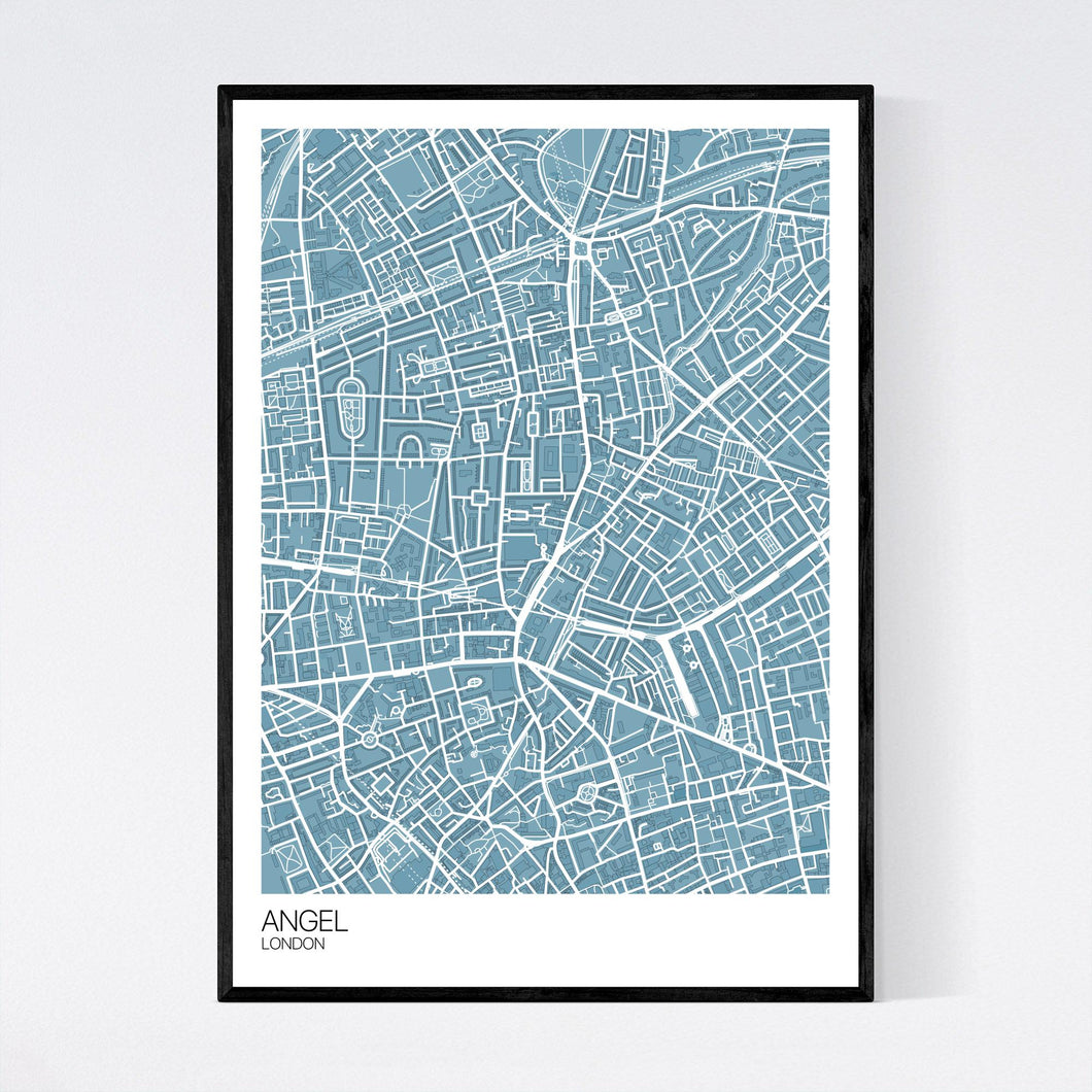 Angel Neighbourhood Map Print