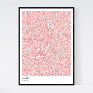 Map of Angel, London