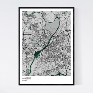 Angers City Map Print