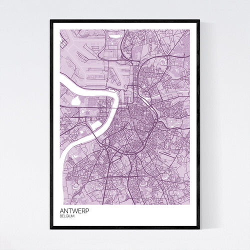 Map of Antwerp, Belgium