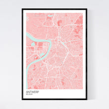 Load image into Gallery viewer, Antwerp City Map Print