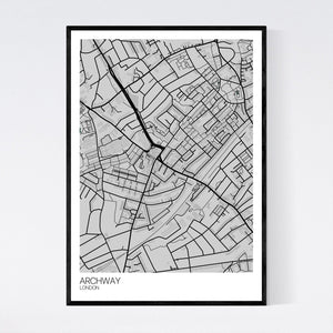 Archway Neighbourhood Map Print